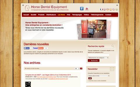 Screenshot of Press Page horse-dental-equipment.com - Nouveautés Horse Dental | Retrouvez toute l'actualité et les informations concernant la dentisterie équine - captured Dec. 12, 2015