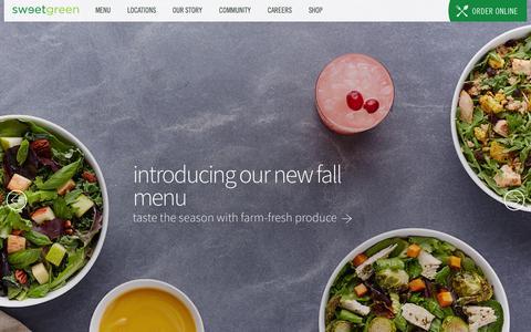 Screenshot of Home Page sweetgreen.com - sweetgreen - captured Oct. 25, 2015