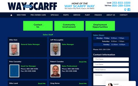 Screenshot of Team Page scarfffordauburn.com - Staff: Ford photos & information | Scarff Ford - captured Oct. 2, 2018