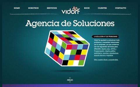 Screenshot of Home Page vidorf.com - Vidorf Eventos Diseño y Publicidad - captured Sept. 30, 2014
