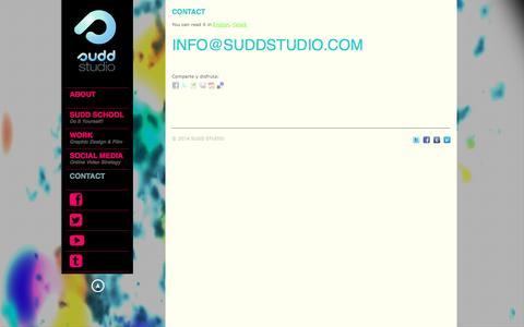 Screenshot of Contact Page suddstudio.com - contacto barcelona españa | SUDDSTUDIO | Graphic Design & Film & Social Media - captured Sept. 30, 2014