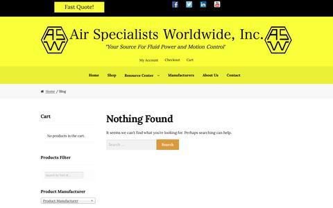 Screenshot of Blog airspec.com - Blog – Air Specialists Worldwide, Inc. - captured Sept. 24, 2016