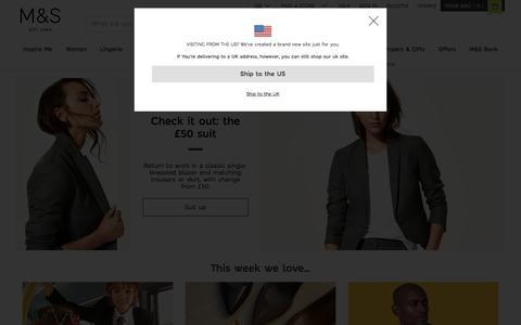 Screenshot of Home Page marksandspencer.com - Welcome to Marks & Spencer - captured Aug. 19, 2018