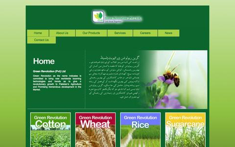 Screenshot of Home Page greenrevolution.com.pk - Main | Green Revolution | Revolution in the Agricultural Field - captured Sept. 22, 2014