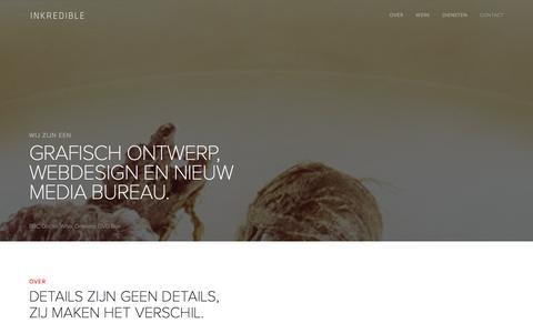 Screenshot of Home Page inkredible.nl - Inkredible — Ontwerp en Ontwikkeling - captured Jan. 8, 2016