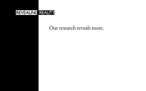 Screenshot of Home Page esro.co.uk - Revealing Reality - Home - captured Sept. 26, 2014