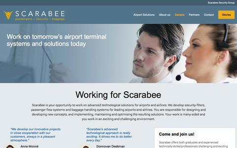 Screenshot of Jobs Page scarabee.com - Working for Scarabee - Scarabee: We handle expectations - captured Feb. 4, 2016