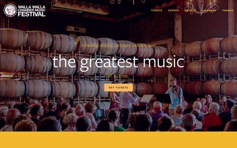 Screenshot of Home Page wwcmf.org - Walla Walla Chamber Music Festival - captured June 19, 2015