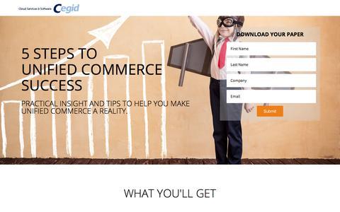 Screenshot of Landing Page cegid.com - 5 Steps to Unified Commerce - Cegid US - captured Oct. 4, 2017