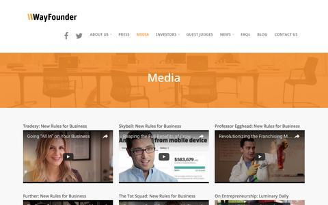Screenshot of Press Page wayfounder.com - Media    WayFounder.com - captured Aug. 19, 2016