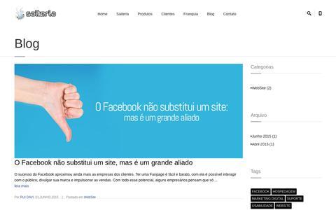 Screenshot of Blog saiteria.com.br - Saiteria - Seu site rápido - captured Dec. 17, 2015
