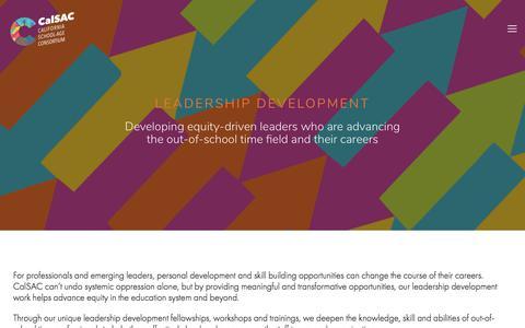 Screenshot of Team Page calsac.org - Leadership Development —  CalSAC - captured Sept. 26, 2018
