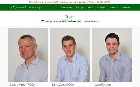 Screenshot of Team Page greenaccountancy.com - Team – Green Accountancy - captured May 24, 2017