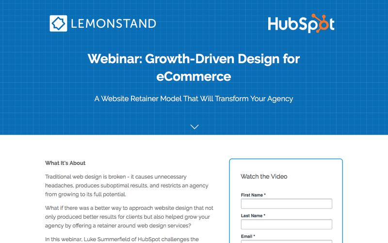 Video: Growth-Driven Design for eCommerce