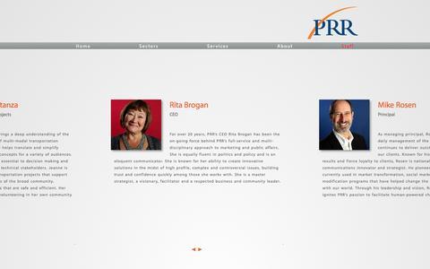 Screenshot of Team Page prrbiz.com - Leadership Team | PRR - captured Oct. 1, 2014