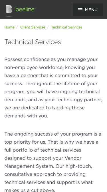 Vendor Management Software Technical Services   Beeline