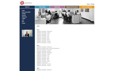 Screenshot of Press Page esoftflow.com - News - captured Sept. 30, 2014