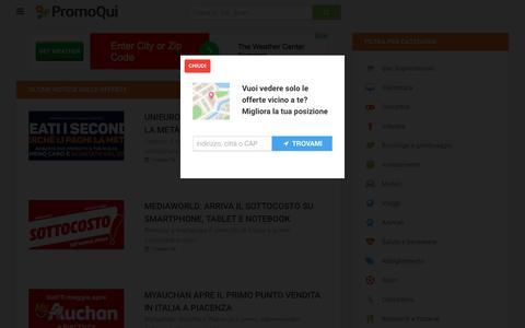 Screenshot of Blog promoqui.it - Ultime notizie sulle offerte - captured June 21, 2017
