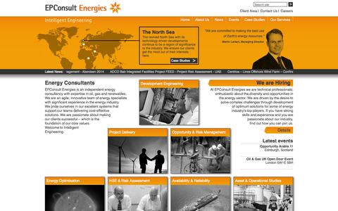 Screenshot of Home Page ep-consult.co.uk - Welcome to EPConsult Energies | EPConsult Energies - captured Oct. 1, 2014