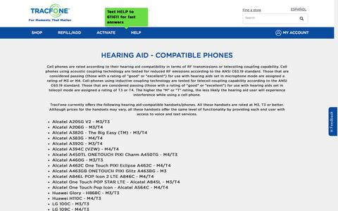 Hearing Aid Compatibility | TracFone Wireless