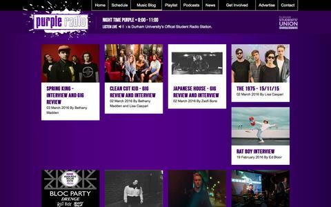 Screenshot of Blog purpleradio.co.uk - Purple Radio   Distinctly Durham - captured March 5, 2016