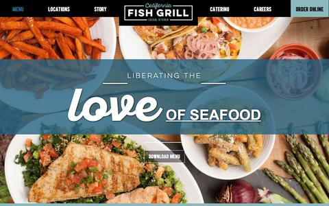 Screenshot of Menu Page cafishgrill.com - California Fish Grill | Fresh Menu - captured Sept. 26, 2018