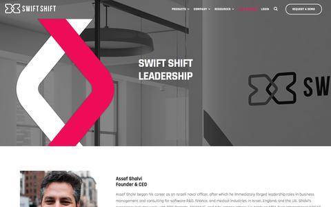 Screenshot of Team Page swiftshift.com - Management | Swift Shift - captured July 20, 2019