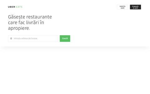 Livrări de mâncare cu o simplă atingere de buton   UberEATS