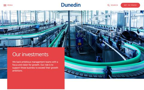 Screenshot of Case Studies Page dunedin.com - Investments & Sectors - All - Dunedin LLP - captured Oct. 9, 2018