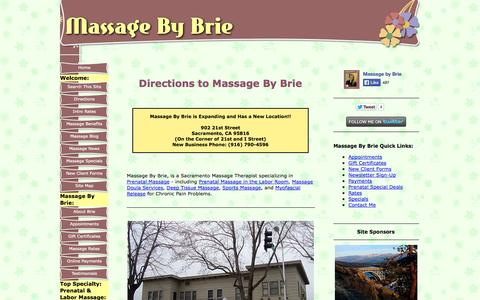 Screenshot of Maps & Directions Page sacramento-massage-by-brie.com - Directions to Massage By Brie - captured Oct. 3, 2014