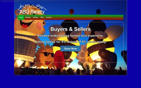 Screenshot of Home Page abqrealty.net - Albuquerque Real Estate & Homes For Sale - ABQ Realty - - captured May 28, 2017