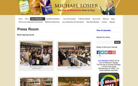Screenshot of Press Page hangoutwithmichael.com - Press Room - captured Oct. 30, 2014