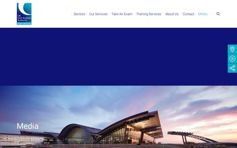 Screenshot of Press Page caainternational.com - Media - CAA International (CAAi) - captured July 14, 2018