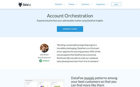 DataFox | Solutions - Account Orchestration