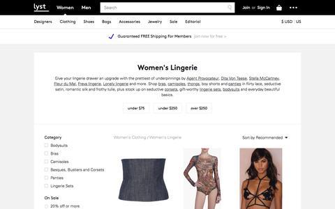 Lingerie | Panties, Bras & Corsets | Lyst