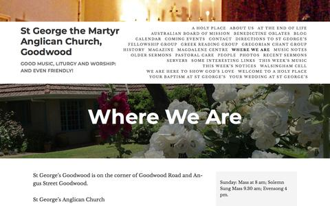 Screenshot of Maps & Directions Page wordpress.com - Where We Are – St George the Martyr Anglican Church, Goodwood - captured June 29, 2018