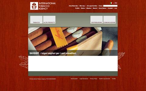 Screenshot of Home Page itagency.it - International Tobacco Agency - Homepage - captured Oct. 6, 2014