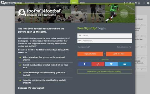 Screenshot of Press Page football4football.com - football4football - captured Oct. 29, 2014