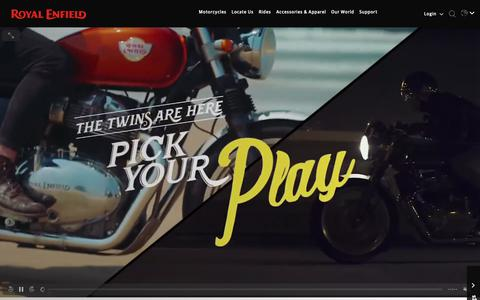 Screenshot of Services Page royalenfield.com - Royal Enfield – Official Website - captured June 1, 2019
