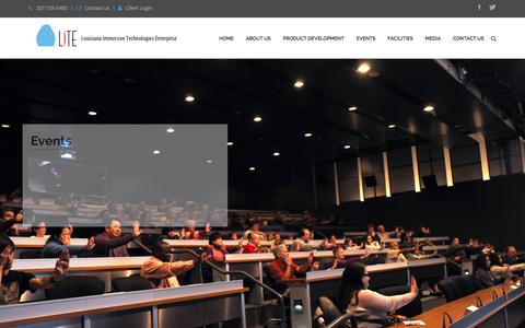 Screenshot of Home Page lite3d.com - Home - captured Feb. 1, 2016