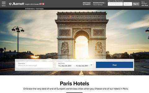 Top Hotels in Paris | Marriott Paris Hotels