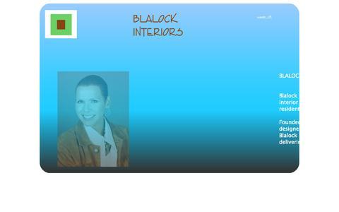 Screenshot of Home Page blalockinteriors.com - Blalock Interiors Home Page - captured Oct. 5, 2014
