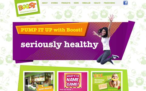 Screenshot of Home Page boostjuicebars.com.my - Boost Malaysia - captured Oct. 5, 2014