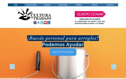 Screenshot of Home Page culturadetrabajo.org.ar - TENEMOS PERSONAL para su casa o empresa - captured May 22, 2017