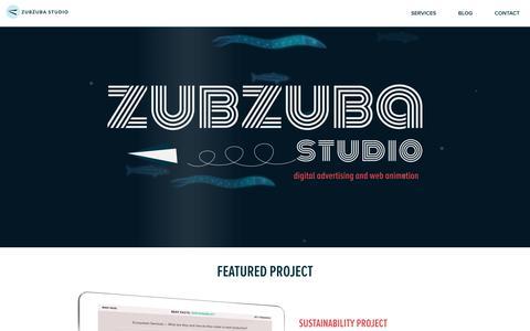 Screenshot of Home Page Contact Page Services Page zubzuba.com - Zubzuba Studio - captured Aug. 6, 2018