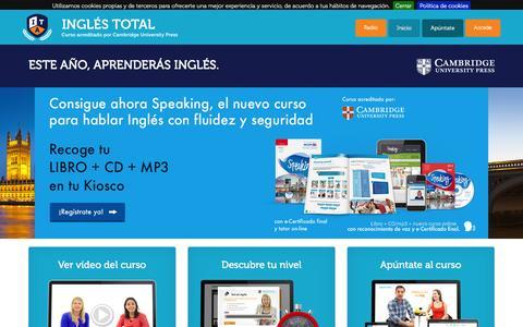 Screenshot of Home Page inglestotal.es - INGLÉS TOTAL. El curso completo de inglés acreditado por Cambridge University Press. - captured Feb. 12, 2016
