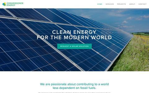 Screenshot of Home Page convergence-energy.com - Convergence Energy - captured Nov. 12, 2016