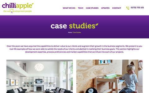Screenshot of Case Studies Page chilliapple.co.uk - Case Studies - ChilliApple - Website & App design & Development - captured Nov. 5, 2016