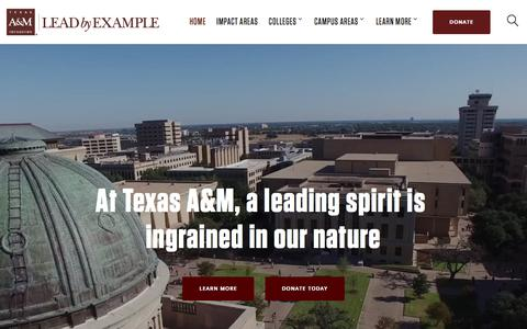 Lead By Example | Texas A&M