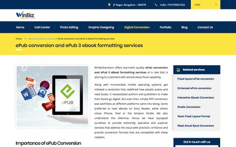 Epub conversion services |Epub3 formatting service | Winbizsolutions